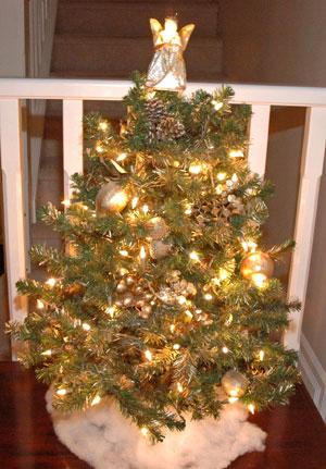 angel on top of tree