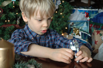 Wordless Wednesday – A Boy and His Transformer