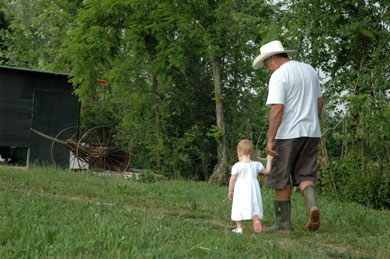 Julia with her Nonno