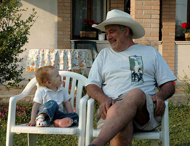 Wordless Wednesday – Visiting With My Nonno
