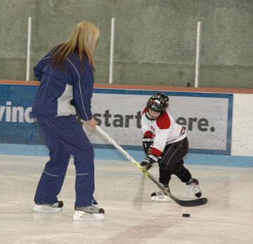 Wordless Wednesday – Jackson and His Hockey Coach