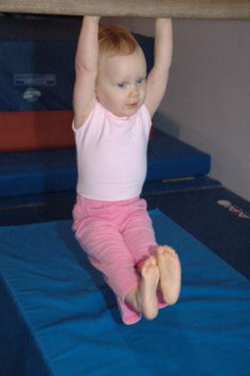 Julia at Gymnastics on Bars