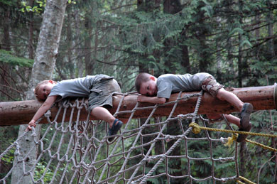 Wordless Wednesday – Rope Course Rest Stop