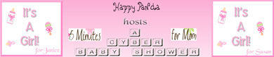 Happy Panda is throwing us a Cyber Baby Shower – and You are Invited!