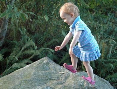 Wordless Wednesday — Julia Feeding Boots
