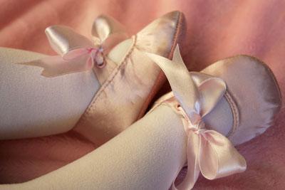 Wordless Wednesday – Olivia's Ballet Slippers