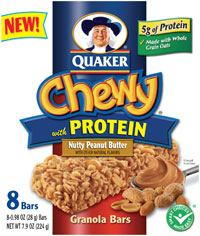 Back to School With Quaker Chewy With Protein Granola Bars