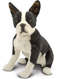 Boston Terrier Life Size Stuffed Animal