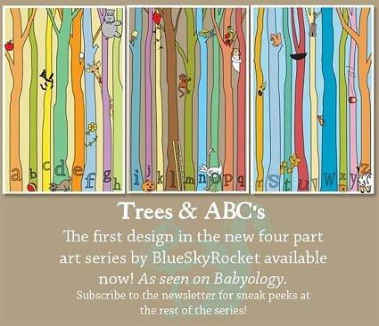 Trees ABC\'s Art Print