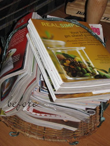 Tackle it Tuesday #147 organizing magazines with Amy