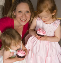 Susan with Sophia and Julia
