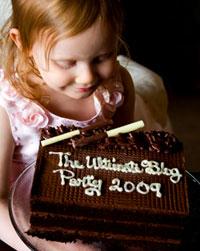 Julia celebrating the Ultimate Blog Party 2009