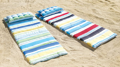 The Aquaterra Surfer Bikini And The Beach Roll Up Mat