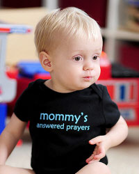 We are giving away Faith Baby Onesies!