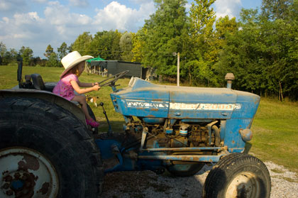Julia on the Tractor