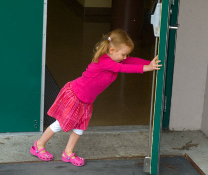 Julia on first day of school
