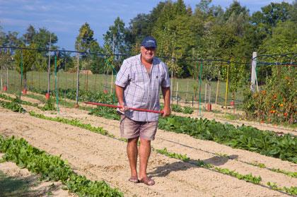 Nonno In His Garden