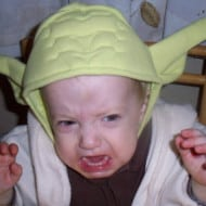 Angry, Yoda is