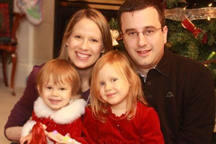 family Christmas photos - Sophia, Julia, Sue and Rob