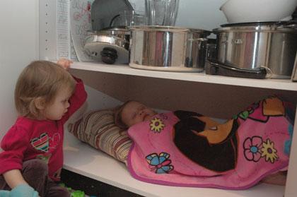 Julia Sleeping In Cupboard
