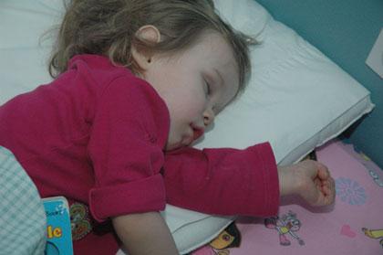 Sophia Sleeping No Soother