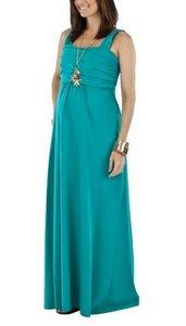 Nursing maxi dress Teal