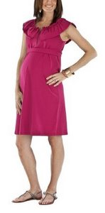 Sleeveless Flounce Neck Dress. Berry