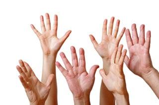 hands-reaching-up