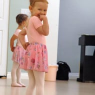 Julia wants to show your little girls a ballet exercise…