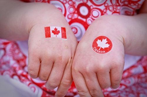 Canada Day - temporary tattoos
