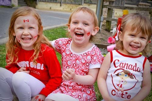 Canada Day - Julia, Olivia, Sophia
