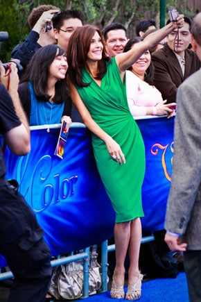 Teri Hatcher on the red carpet at Disney World of Color