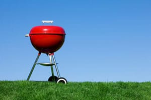 barbeque-against-blue-sky