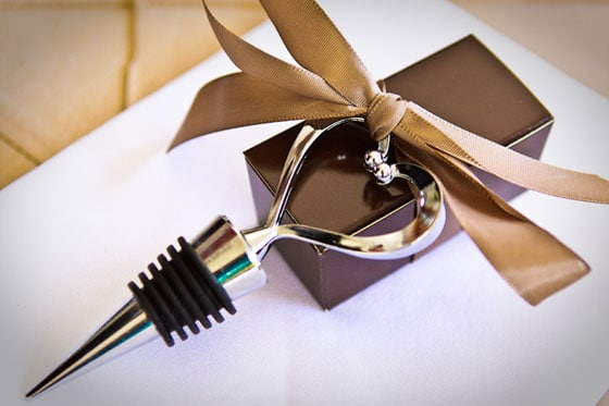 Wedding Favor Heart Shaped Wine Stopper