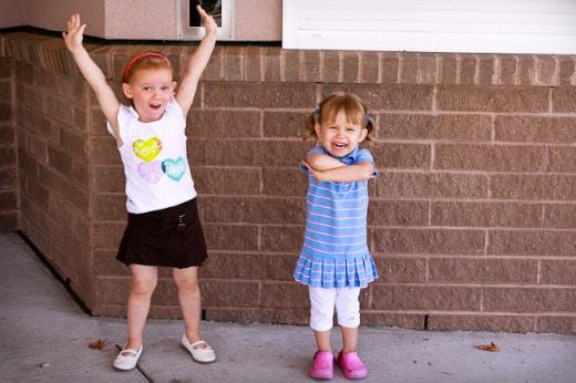 Olivia and Sophia at Preschool