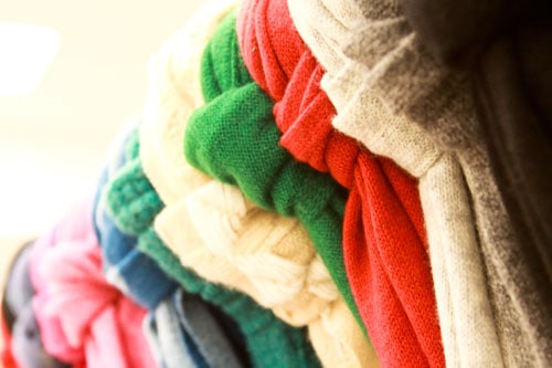 assorted cashmere scarves