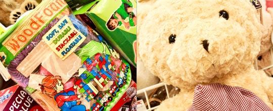 Foam Wood Blocks $16.99 and Oversized Plush Bear at t.J. Maxx