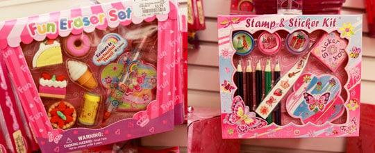 Fun Eraser Set and Stamp & Sticker Set $3.99 at Marshalls