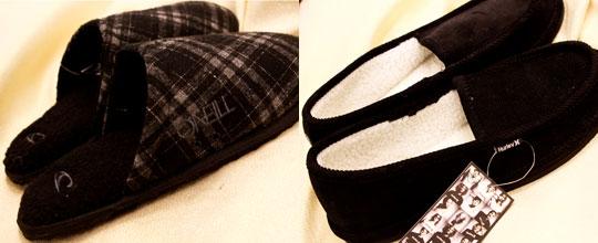 O'Neill Men's Slippers $14.99, Hurley Men's Slippers $19.99 at T.J. Maxx