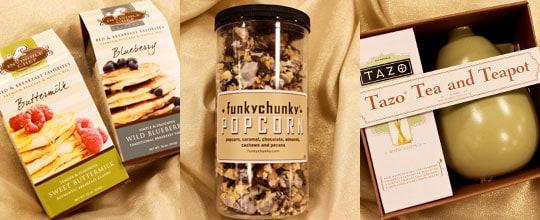 The Invisible Chef $4.99, Funky Chunky Popcorn, Tazo Tea & Teapot $12.99 at T.J. Maxx and Marshalls