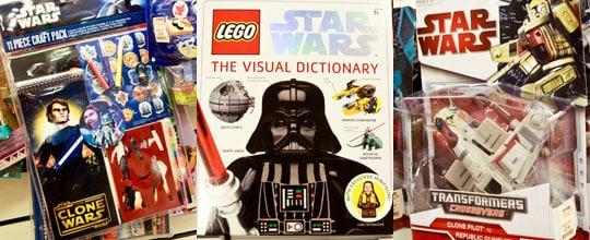 Star Wars Craft Pack $7.99, Lego Star Wars Visual Dictionary $14.99, Star Wars Transformers $7.99 at T.J. Maxx