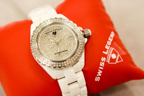 Ceramic Diamond Swiss Legend Ladies Watch