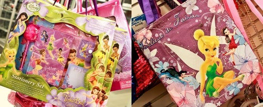 Assorted Tinkerbell Stationary Sets, Tinkerbell Bag $6.99 at Marshalls