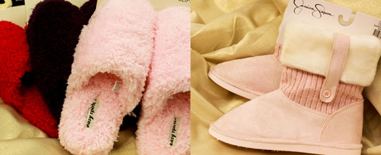 Easy Spirit Women's Slippers $8.99, Jessica Simpson Slippers $12.99 at T.J. Maxx and Marshalls