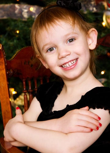 Wordless Wednesday - Olivia - Christmas, 2010