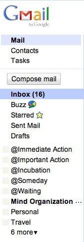 Gmail Folder Example