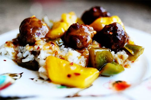 Meatballs with Peppers and Pineapple - Ree Drummond