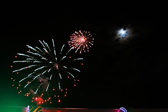 Fireworks at Sea on the Disney Dream - photo Janice Croze