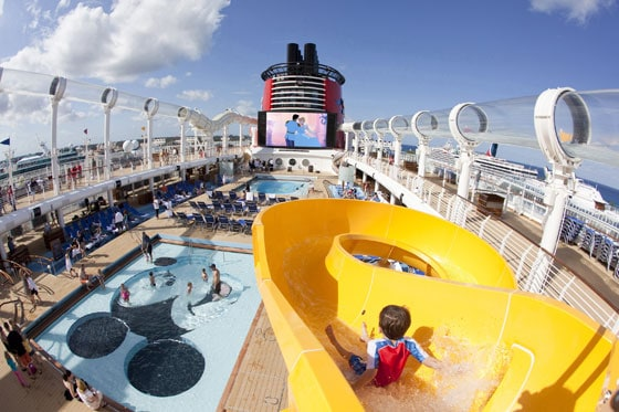 Disney Dream - Mickey's Pool and Pool Deck - Disney Cruise Line