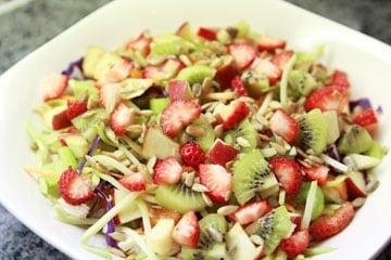 Broccoli Slaw Fruit Salad with Chicken Breast